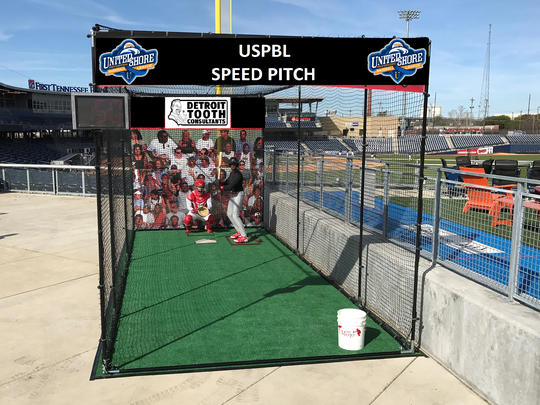 The United Shore Professional Baseball League is adding a pitch-speed machine to its fan experience this season.