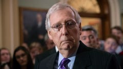 Senate Majority Leader Mitch McConnell, R-Ky., tells