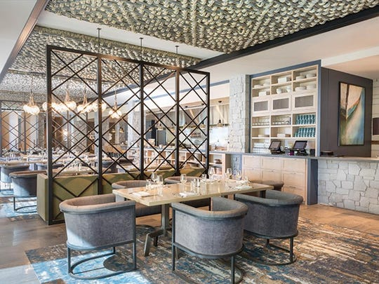 The bar at the Bistro, the mountain-chic restaurant serving breakfast, lunch and dinner in the $100 million Lodge at Edgewood Tahoe, which opened in summer 2017.