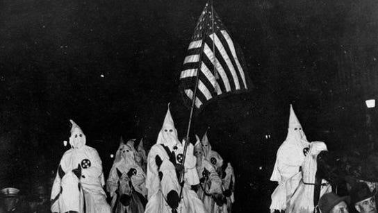 Historical photograph of the Ku Klux Klan
