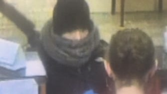 Burlington Police released this surveillance photo of a woman they believe attempted to rob the Vermont Federal Credit Union branch at 84 Pine St., in Burlington Tuesday, April 10, 2018.