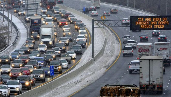 Interstate conditions in Nashville remained troublesome on Friday afternoon.