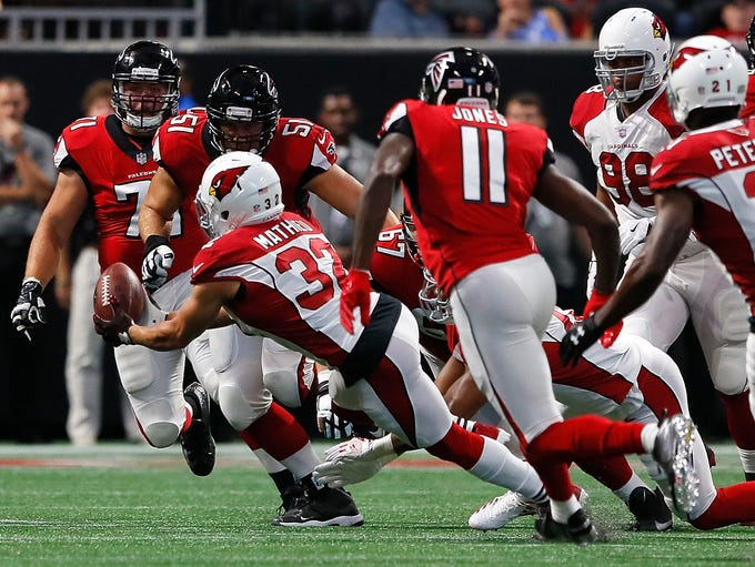 Tyrann Mathieu #32 of the Arizona Cardinals intercepts