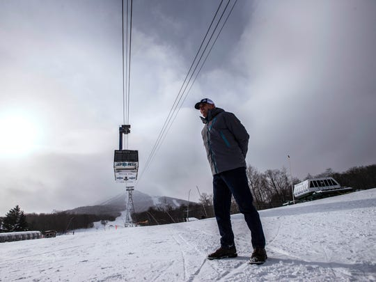Jay Peak Resort Manager Steve Wright looks out over a vastly different landscape this year compared to last, both in terms of snow base, and customer base. A strong winter snow pattern so far this season has propelled the resort way into the black according to Federal Receiver Michael Goldberg.