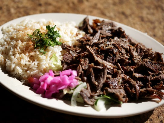 Al-Ameer's shredded lamb in Dearborn, MI on Monday,