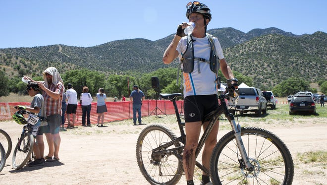 The bloody aftermath of Bob Young's Foray at the Fort Mountain Bike Race at Fort Huachuca.