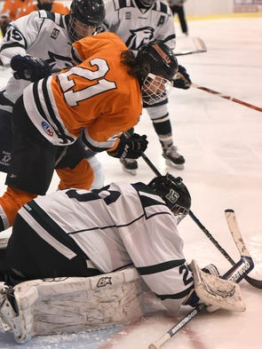 Northville Mustang Nick Bonofiglio prepares to leap