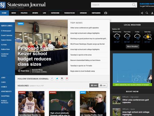 Statesman Journal homepage