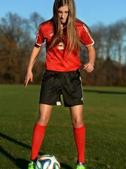 Lexington's Hannah Bassham had 23 goals and 12 assists this past season.
