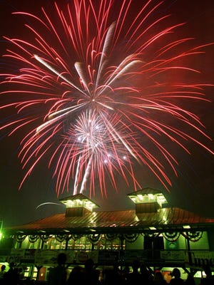 The July 3 fireworks show in Burlington begins at 9:30 p.m. Tuesday along Lake Champlain.
