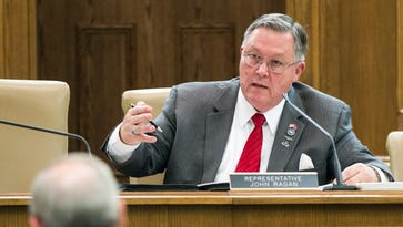 State Rep. John Ragan, R-Oak Ridge, attends a Senate Higher Education Subcommittee hearing on Wednesday. Lawmakers asked University of Tennessee leaders to explain diversity programs after the system's flagship Knoxville campus removed references to the use of gender-neutral pronouns such as from a school website