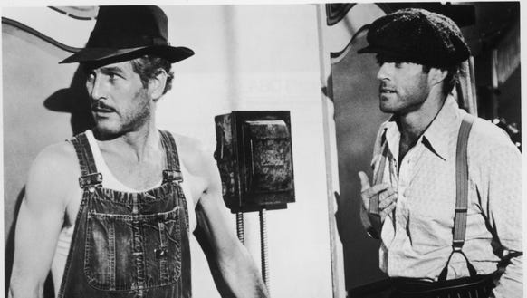 "Paul Newman and Robert Redford star in ""The Sting."""