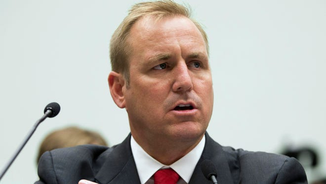 In this 2013 photo, Rep. Jeff Denham, R-Calif., testifies at a hearing on Capitol Hill in Washington. Several Republican lawmakers are beginning to collect signatures on a petition to force House votes on immigration legislation, and a leader of the group says they will garner enough support to succeed.  Denham said he was beginning to collect signatures on his plan for four House votes. In a meeting Tuesday with Ryan, Denham said he told the speaker he had the backing he needs.