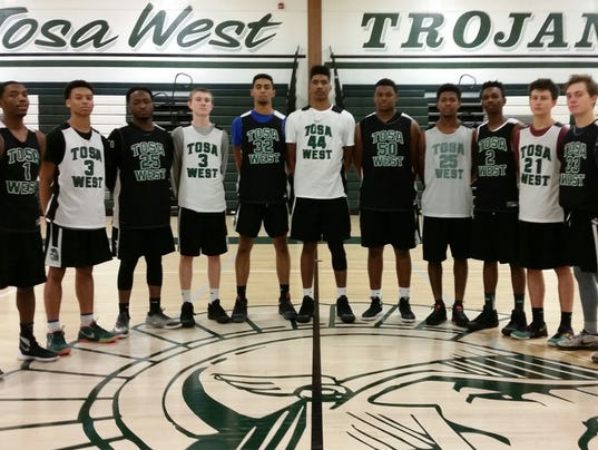 West boys basketball team
