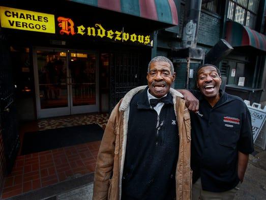 "Long-time Rendezvous waiters ""Big"" Robert Newman (left)"