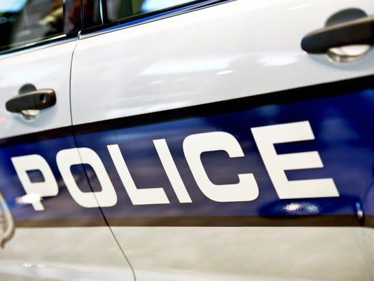 Police car side closeup
