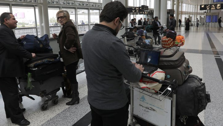 A Syrian passenger traveling to the United States through