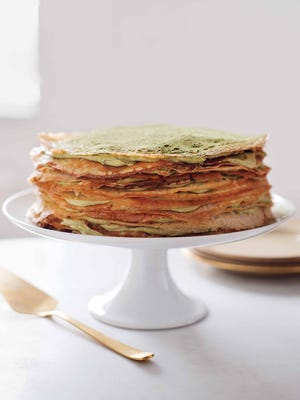The next time you have something to celebrate, try this special dessert. The towering confection is made from thin, tender crêpes and a pastry cream with the subtle flavor of green tea.