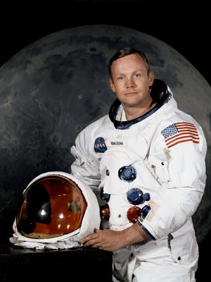 Apollo 11 commander Neil Armstrong before the July 1969 mission to the Moon.