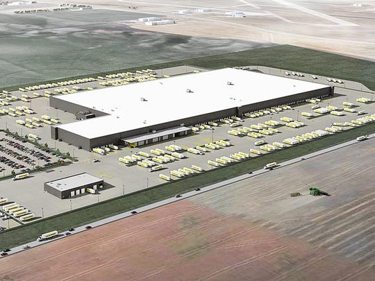 This architect's drawing shows a Dollar General distribution facility scheduled to open this summer in Janesville. Clayco is the general contractor and Leo A. Daly is the architect.