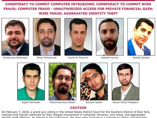 Cartel proporcionado por el FBI con las fotos de los