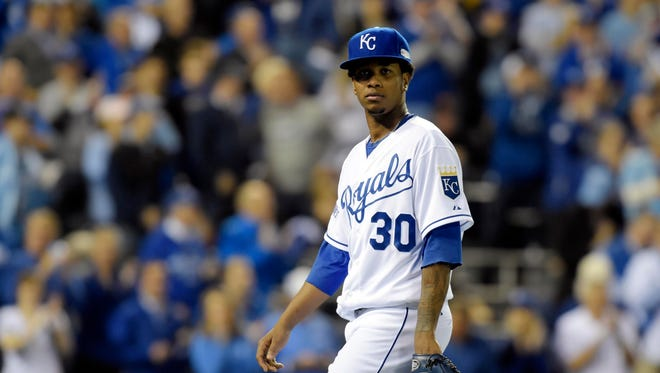 Yordano Ventura says he is indeed ready after holding the Giants to two runs in 5 1/3 innings in Game 2.