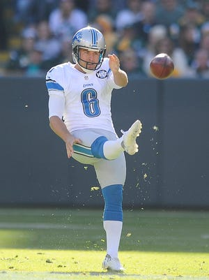 Lions punter Sam Martin missed all of training camp and the first six games of the season with an ankle injury.