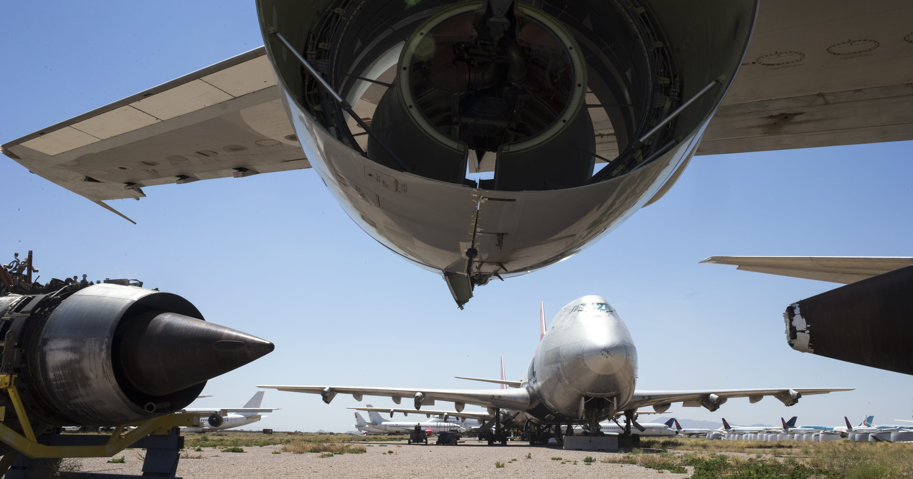 Pinal Airpark Once Secretive Aircraft Boneyard Slowly Opens Its Gates Section As Well Airplane Parts Names On 747 Diagram