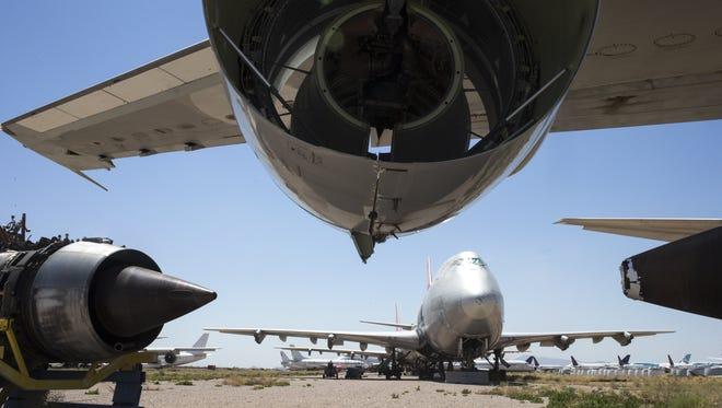 Logistic Air decommissioned 747's, June 22, 2016, at Pinal Airpark, Marana, Arizona.