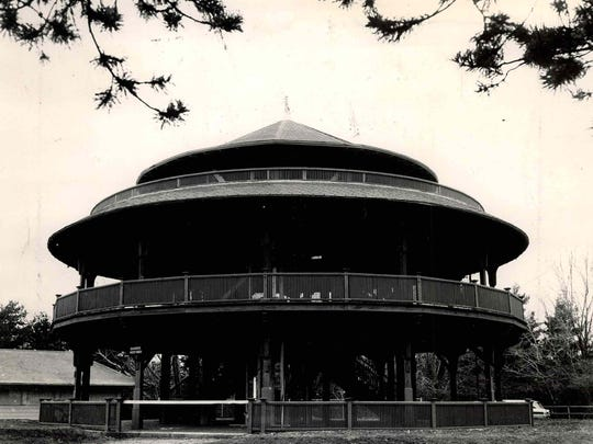 The three-story structure was designed not only as a place to take in the view but also as a respite for children in need of clean air.