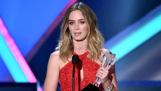 Emily Blunt onstage during the 20th annual Critics' Choice Movie Awards at the Hollywood Palladium on January 15, 2015 in Los Angeles, California.