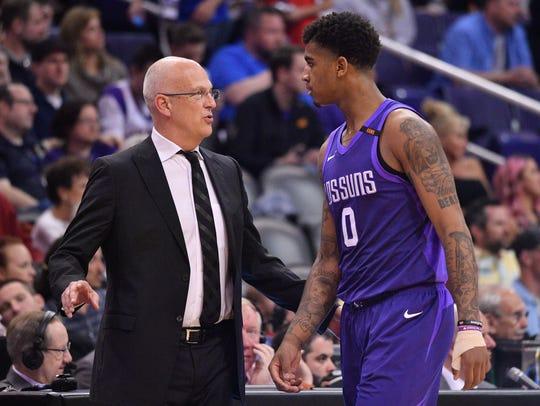 Mar 28, 2018: Phoenix Suns head coach Jay Triano talks