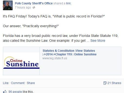 Polk Sheriff FB
