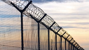 Prison fencing.