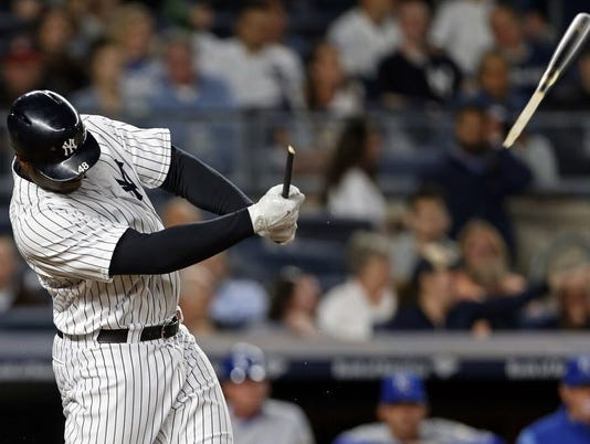 USP MLB: KANSAS CITY ROYALS AT NEW YORK YANKEES S BBA NYY KC USA NY
