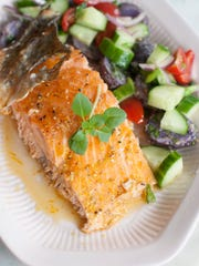 A Maple-Bourbon Glazed Salmon Fillet can be grilled for a tasty meal to feed a crowd.