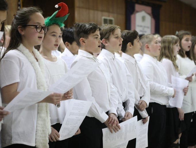 The Wanaque Chorus sings at the Golden Age Club of