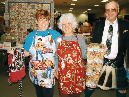 The Silver City Fiber Arts Festival begins Friday at the Grant County Business and Convention Center. In this file photo, Susie Snedeker, Annette Mitchem and Jim Dines are pictured at the 2011 Fiber Arts Festival. Courtesy Photo