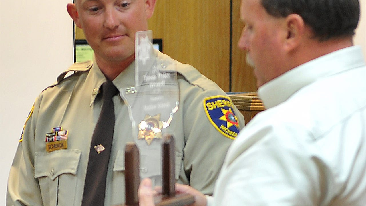 Wichita County Deputy Matthew Schenck received the Tessa Price Award Thursday afternoon during the Wichita County Sheriff's Office Quarterly Award Ceremony. Tessa Price was killed in February 2011 by a drunk driver when she was 16-years-old. Wichita County Sheriff, David Duke said the WCSO remembers the life of Tessa with each DWI arrest.