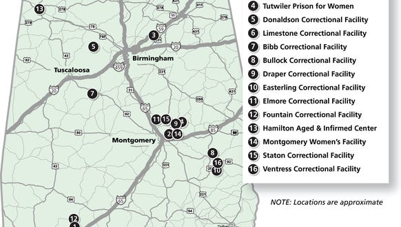 Alabama prison locations
