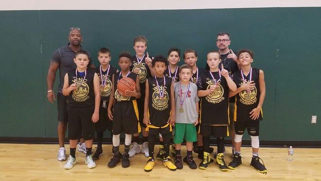 The Western North Carolina Warriors sixth-grade basketball team won a tournament last weekend at the Rocky Top Sports World complex in Gatlinburg, Tenn.