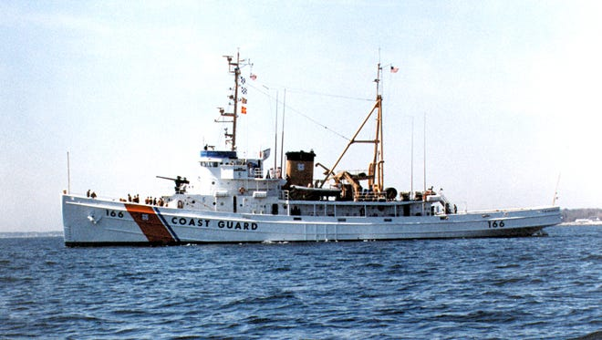 This image of the Coast Guard Cutter Tamaroa was shot one year before it would sail into the vicious Halloween storm to save lives. The Tamaroa, known as the USS Zuni in World War II, will be sunk off Cape May as part of an artificial reef.