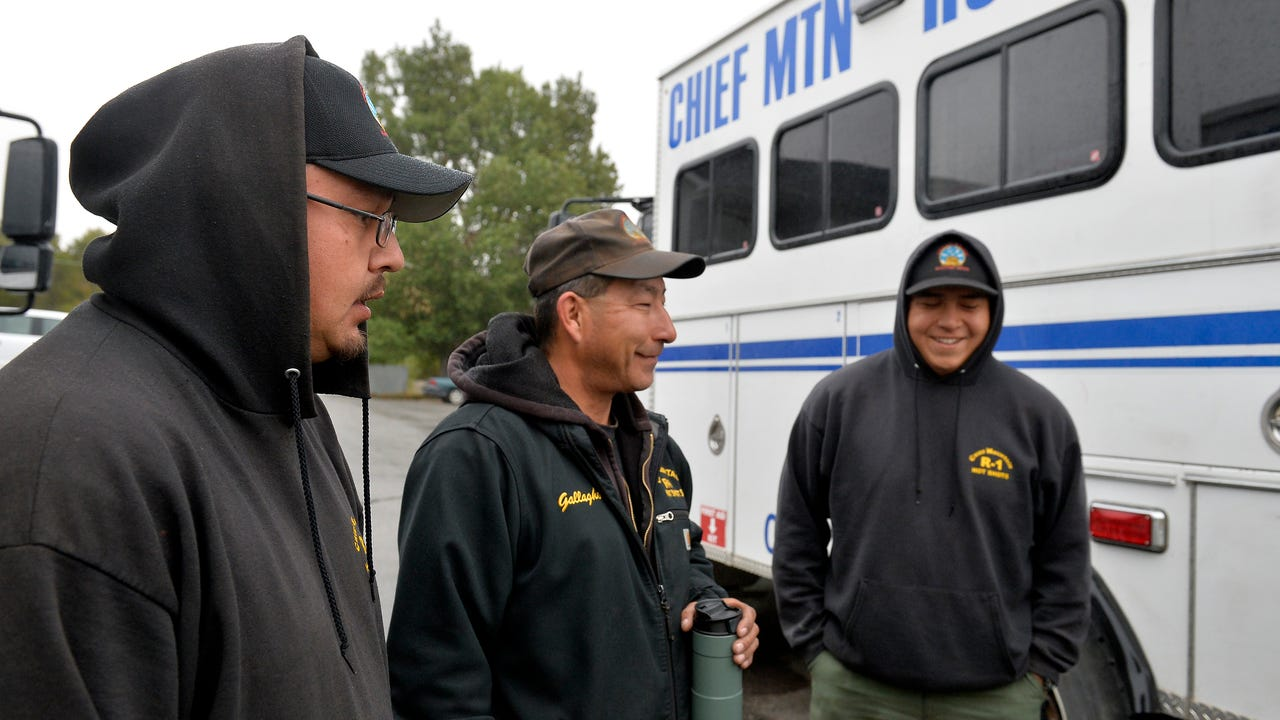 There are seven hotshot crews based in Northern Rockies firefighting region, which includes Montana, north Idaho, North Dakota and the Yellowstone National Park area, each with 20 members.