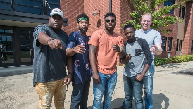The band Kirk Jay & Kuntry Funk, from left, are Elijah Anderson, Duron Hale, Kirk Jay, Roderick Robinson and Jack Binkerd.