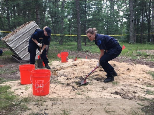 Police digging up supposed homicide victim's grave in Hale