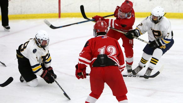 North Rockland defeated Pelham 7-1 in hockey action