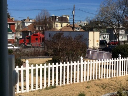 Residents of Federal Street, Clifton, complain about tractor-trailers in their neighborhood.
