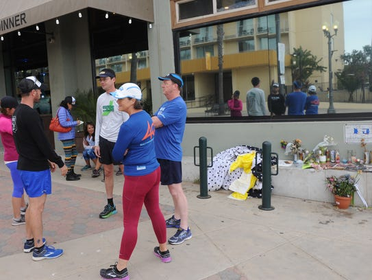 Members of the Ventura Running Club talk about the
