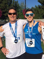 Billy Haug, right, will be competing in the Spartan race series this weekend at Squaw Valley.