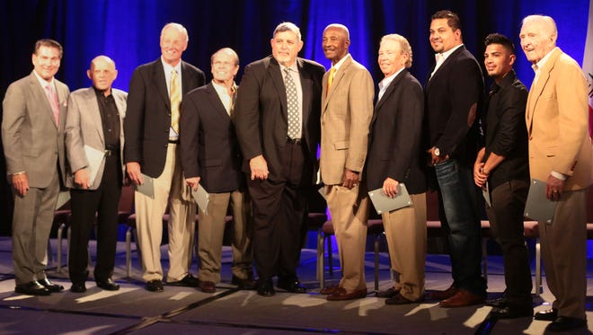 Sports legends attend the Boys and Girls Clubs of the Coachella Valley Sports Heroes Luncheon II on Thursday April 14, 2016 at the Hyatt Regency Indian Wells Resort.